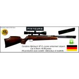 """Carabine-Weihrauch-Hw97K-Cal 4.5mm-Air comprimé -Levier d'armement sous canon + Silencieux +  lunette 3x9x40+mallette -19.99 joules-""""Promotion"""".Ref 1660"""