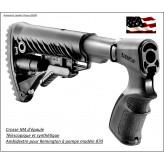 Crosse d'épaule-Remington-pompe-870-modèle M4- télescopique-synthétique et ambidextre-Ref 23251 .