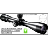 "Lunette- Elite Tactical-Bushnell- Grossissement 4,5-30 x 50-Réticule Mildot-""Promotion""-Ref 24363"