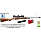 """Carabine -Tikka-T3-Hunter- de Luxe-Cal 30-06-Répétition-Avec organes de visée-PACK TIKKA AFFÛT Livrée avec : 1 lunette Le LYNX 2,5-10X56- 1 rail- 1 boîte de 20 cartouches GECO .30-06 et 1 mallette-""""Promotion""""-Ref 25979"""
