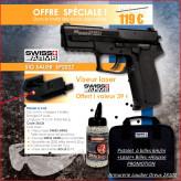 Pistolet-à-propulsion-CO2-Culasse métal- Cal. 6 mm-OFFRE SPÉCIALE OCTOBRE / NOVEMBRE / DÉCEMBRE 2015 -Ref 26636