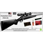 Carabine-Remington-783-Calibre-243 winch-Répétition-Pack  renard-complet-Lunette 3x9x40+ Mallette +1 boite munitions en 243 w-Geco+pochette+canne pirsch+appeau renard -Promotion-Ref 28792
