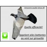 Appelant -Pigeon-ailes battantes-au -vent- sur- girouette- STEP- FLAP - Stepland-Ref 29628