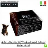 Cartouches-Balles-Slug-Cal 28/70-BASCHIERI-&-PELLAGRI-Big GameThrill shock-haute vitesse-17-grammes-Boite de 10-Ref 29937