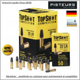 Cartouches-Cal 22 Lr-Topshot-standard -vélocity-Bte de 50-Promotion- Ref 31114