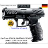 Pistolet-walther-Umarex-PPQ-M2- RAM-Cal 43 -DEFENSE- balles-Caoutchouc -et Paint Ball-Semi auto- Ref 31957