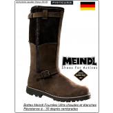 Bottes-MEINDL-KIRUNA-GTX -Fourrées  tout cuir- Grand froid jusqu'à -30 degrés-Pointures 41 au 47-Promotion-