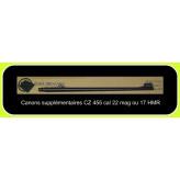 """Canon supplémentaire interchangeable en cal 22 Mag pour carabine de tir CZ  .Mod 455 .Répétition ,+ chargeur amovible.""""Promotion"""".Ref 771220"""