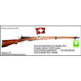 """Fusil Suisse  SCHMIDT RUBIN K 31-modèle 1931--D'époque- répétition 6 coups -Calibre 7,5 x 55 Swiss -Finition Très BON-""""Promotion""""-Ref 21078"""