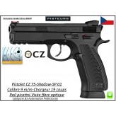 Pistolet-CZ-75-SHADOW-SP-01-Calibre-9 Para-Semi automatique-Catégorie B1-Promotion-Avec-Autorisation-Préfectorale-B1-Ref 768354
