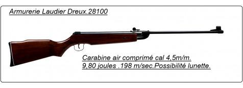 "Carabine air comprimé. Calibre 4,5 mm.Air Rifle-.9.80 joules.""Promotion"".Ref 10292"