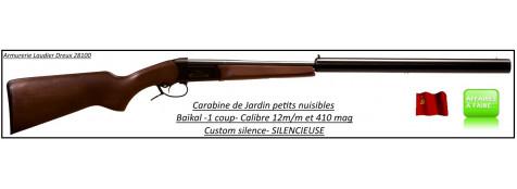 Carabine-Baïkal-IJ18-Calibre 410 -Custom silence-silencieuse-Ref 10458
