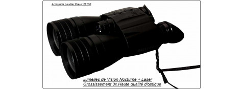 Jumelles AMPLIFICATEURS DE LUMIÈRE LUNA Optics LN-PB3 .Grossissement: X3.Ref 11640