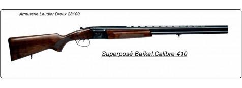 """Superposé Baïkal Ij 27 E. Cal 410 monodétente sélective, éjecteurs.""""Promotion"""".Ref 11825"""