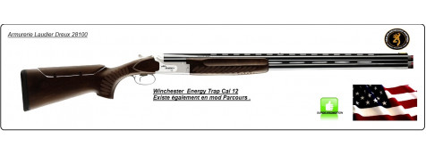 Superposé-Winchester- SELECT ENERGY-Sporting-Trap-Crosse à busc réglable-Cal 12/70-Canons 76cm- Ref 12327