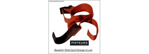 Baudrier-porte-fusil-orange-Ref 12955