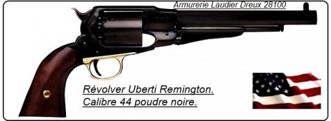 """Révolver-Uberti-Remington- poudre noire- Cal 44 Acier- bronzé-""""Promotion""""-Ref 134"""