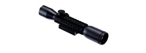 Lunette Walther 4x32 Tritac avec 3 rails picatini.Ref 13594
