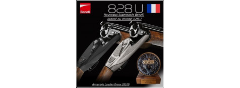 """Superposés -Benelli-Modèle-828U-Silver ou Black-Cal 12 magnum 89m/m-Ejecteurs-Mono détente-Système anti recul-Busc gel anti choc-Batterie démontable""""Promotions"""""""