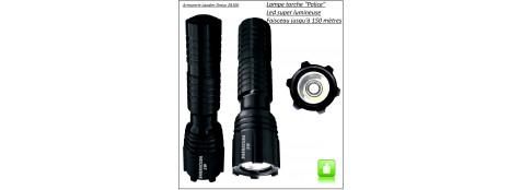 "Lampe-Torche-tactique-police-en Duralumin-""Barracuda""- Faisceau lumineux jusqu'à 150 m-Ref 14238"