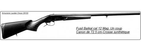 Fusil à un coup-Baïkal Ij 18- Cal 12 mag.-Canon de 72.5 cm-Crosse synthétique- Ref 14740