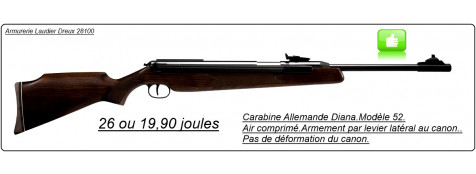 Carabines-DIANA-air comprim-Allemandes -Modèle 52-Cal. 4,5 mm-26 joules -ou 19 joules.