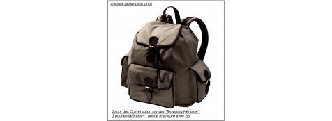 Sac à dos-Browning-Cuir et coton canvas-Ref 14971