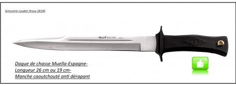 Dagues-chasse-Muella-2 modèles -(lame 19 ou 26 cm)-Ref 15064 ou 15435.