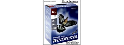 Cartouches-Winchester-Spécial pigeon-Cal 12/70-Plomb N°6 en 36 gr-Pack de 150 cartouches-Ref 15910