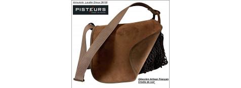 Gibecière -Porte gibier-Croûte de cuir-Ref16934