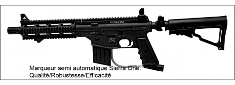 "Marqueur Paint Ball  SIERRA ONE. ""TIPPMANN"".--semi-automatique. --Calibre : 68 .CO2 ou Air Comprimé.+ masque+ loader+bouteille."