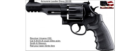 "Revolver -Smith & Wesson-Umarex CO2- Cal. 4,5 mm - billes métal- 8 coups-""PROMOTION""-Ref 17286"