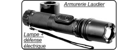 Appareil- défense électrique - Lampe de poche+ chocker- 1 Million de volts- rechargeable sur secteur -Promotion-Ref 17556