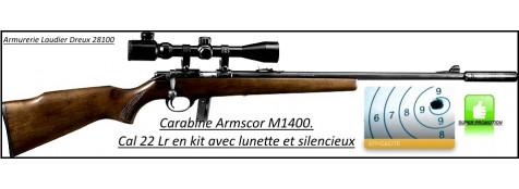 """Carabine-Armscor-M14-Cal 22 -Répétition-Seule ou en kit lunette /silencieux-""""Promotions""""."""