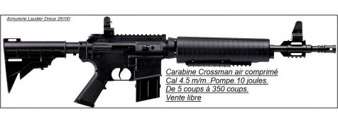 """Carabines-Crossman-M4-177-Cal 4.5 m/m-Air comprimé- A pompe-De 5 coups à 350 coups-Noire ou beige-""""Promotions"""".VENTE LIBRE"""
