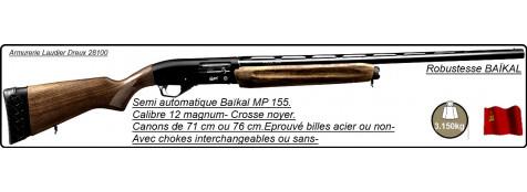 "Semi automatiques Baïkal Mp 155-Cal 12/76-Canon 76 cm- ou 71 cm-Crosse en noyer-Carcasse fraisée-Éprouvé B.Acier--ou non-Chokes inter-ou non-""Promotions"""
