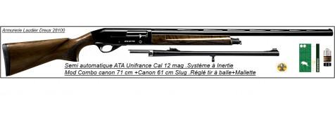 "Semi automatiques ATA Arms.NEO --Cal 12 magnum-Crosse Noyer ou Synthétique.Canons de 71 cm ou de 76 cm, ou SLUG 61 cm et Combo 2 canons""Promotions"""