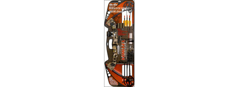 Arc- compound -de tir ou chasse  Barnett archery---Vortex Camo--réglable de 19 à 45 livres-Kit complet-Ref 19542