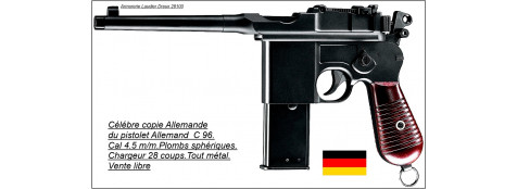 Pistolet-C96 -Cal 4.5mm-CO2- Billes d'acie- 28 coups-Ref 19883