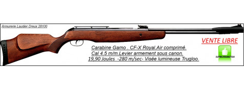 "Carabine GAMO- Air comprimé-CF-X-ROYAL-Cal 4.5mm -19,90 joules .""Promotion"".Ref 20036"