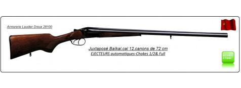 Juxtaposé Baïkal- Ij 43E-Cal 12/70-EJECTEURS-Doubles détentes- Canons 72cm -Ref 530