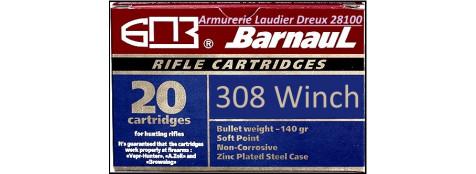 Cartouches-BARNAUL-308 Winch- Boite de 20-Ref 20703