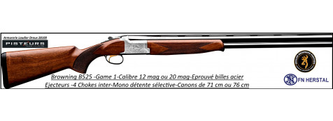"Superposé-Browning-Game 1-Chasse-Cal 12 mag-Canons 76 cm-""Promotion""-Ref 17627-20892"