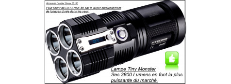 Lampe-TINY MONSTER - NITECORE- 3800 Lumens-avec chargeur-Ref 21061