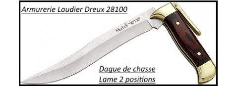 Dague Chasse pliante-Lame 20 cm- 2 positions -Ref 21073