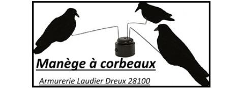 Manège-corbeaux- électrique-3 Corneilles- tournantes-Ref 21091