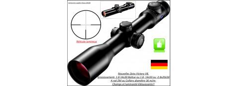 """Lunettes-Zeiss-Victory-V8-Grossissement-1,1-8 x 30- ou -1,8-14 x 50- ou -2,8-20 x 56 -Réticule-R60 lumineux-Rail ZM-ou colliers diamêtre 36 m/m-""""Promotions"""""""