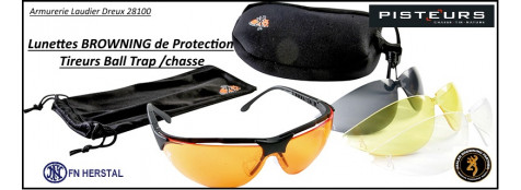 Lunettes-protection-Browning-Claymaster- 5 coloris- interchangeables-Ref 22760