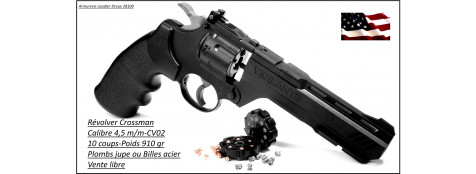 "Révolver-Crossman-USA-Type-Smith & Wesson- Mod Vigilante- cal 4.5mm - 10 coups- canon 6""-""Promotion""-Ref 22929"