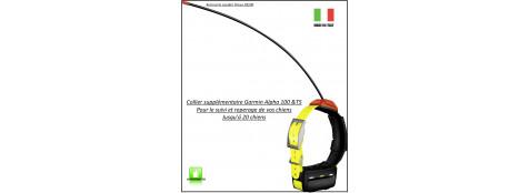 """Collier -supplémentaire-GARMIN-Alpha 100 -&-T5-GPS de suivi et repérage de chiens-""""Promotion""""-Ref 23076"""